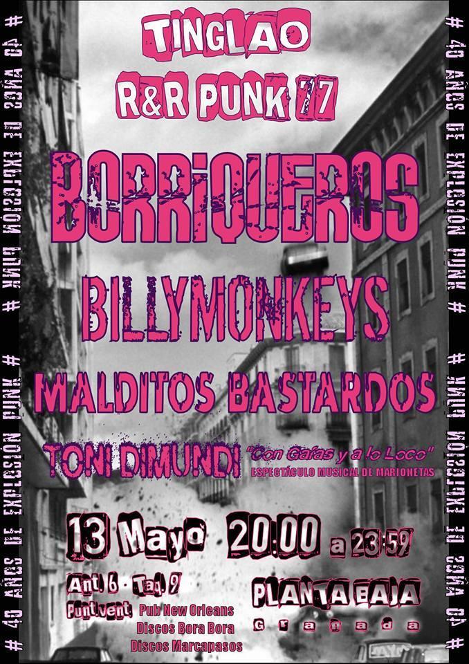 BORRIQUEROS + BILLYMONKEYS+ MALDITOS BASTARDOS + TONI DUMONDI Planta Baja
