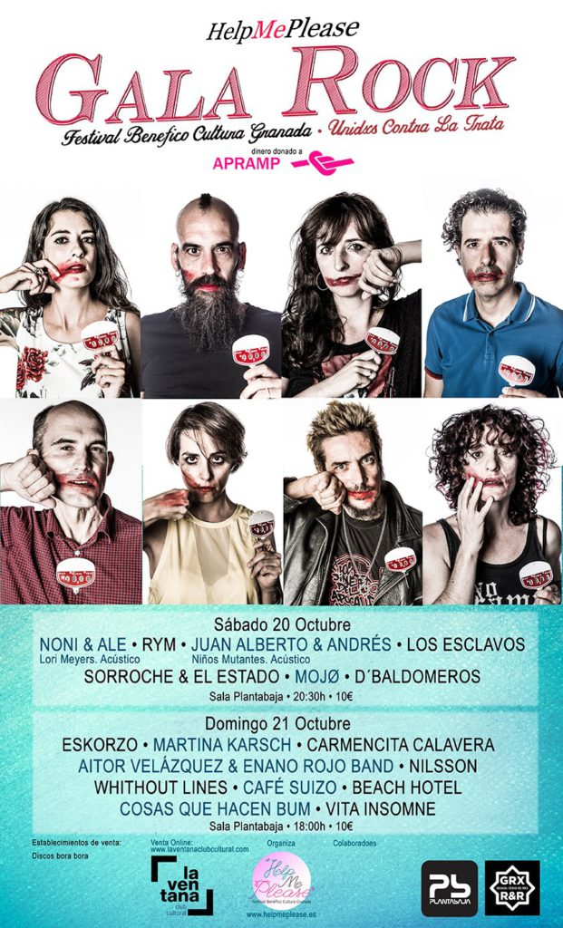 Help Me Please: Festival Benéfico Cultura Granada - Unidos Contra la Trata Planta Baja
