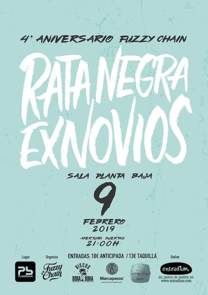 IV ANIVERSARIO FUZZY CHAIN: RATA NEGRA + EXNOVIOS Planta Baja