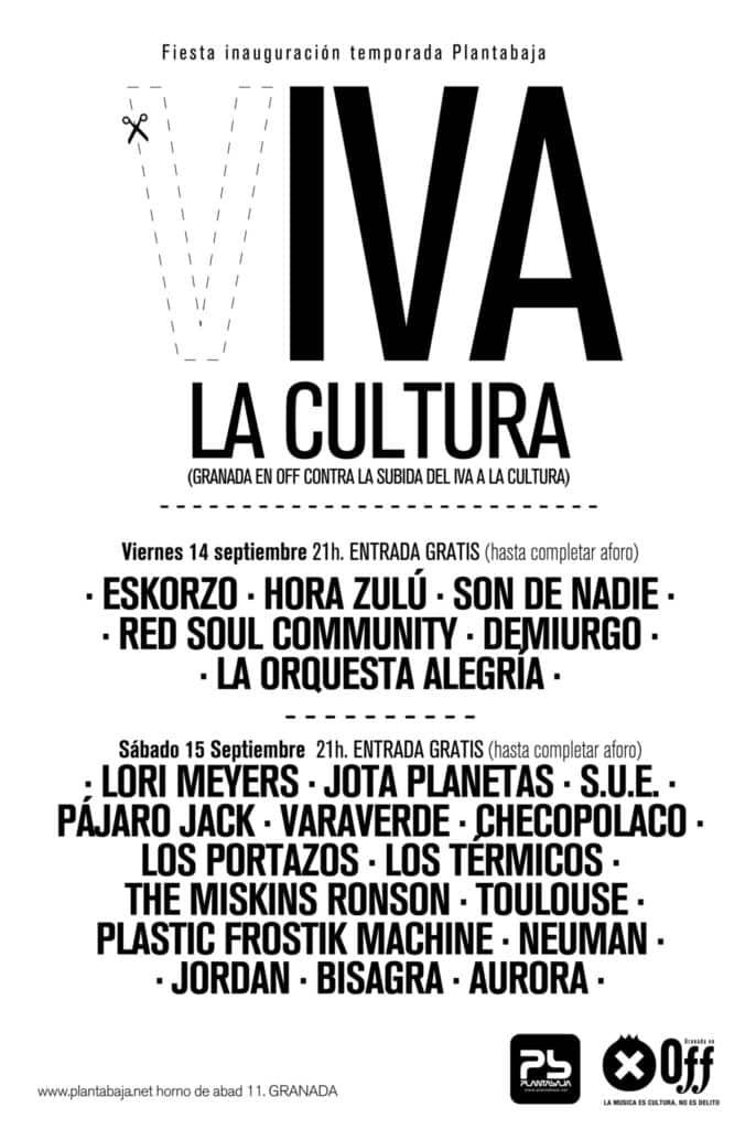 Granada en Off contra la subida del IVA a la cultura