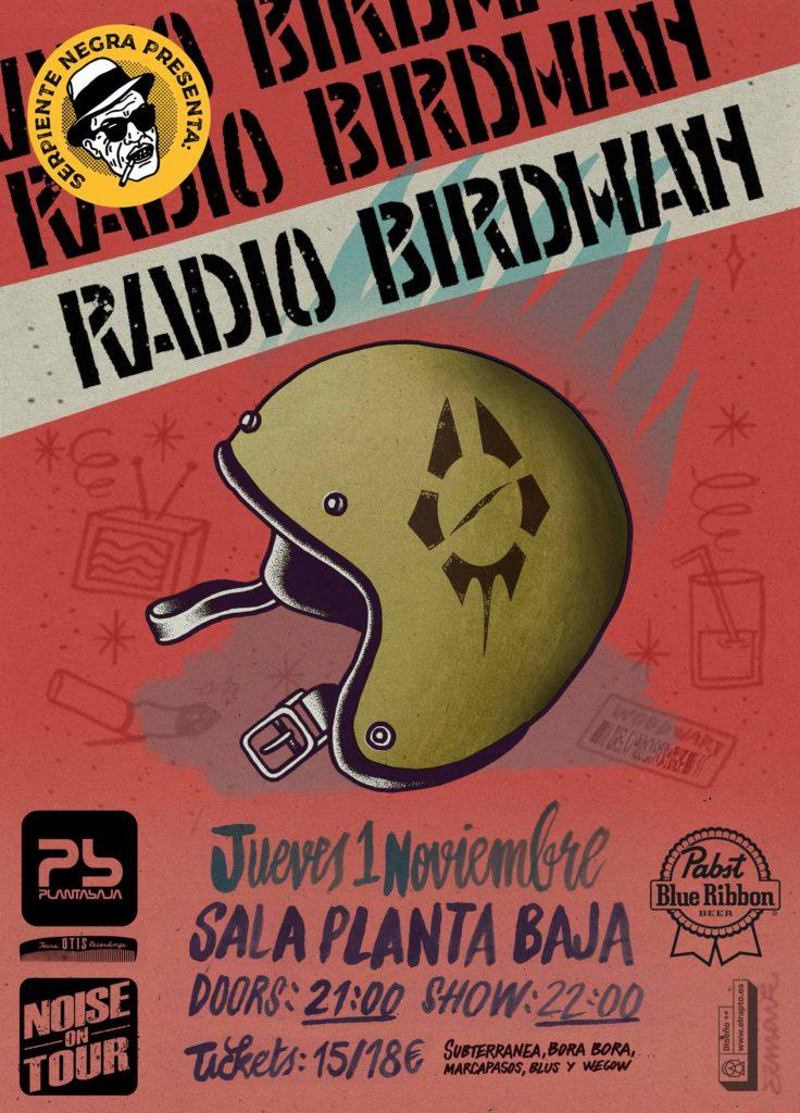 Serpiente Negra presenta: RADIO BIRDMAN Planta Baja
