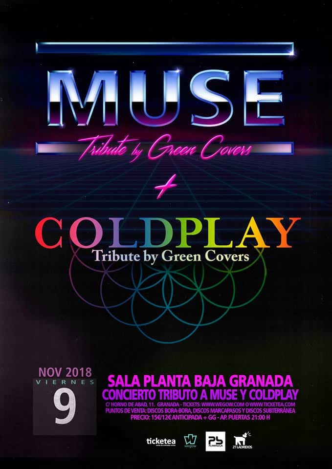 COLDPLAY + MUSE Tribute by GREEN COVERS Planta Baja