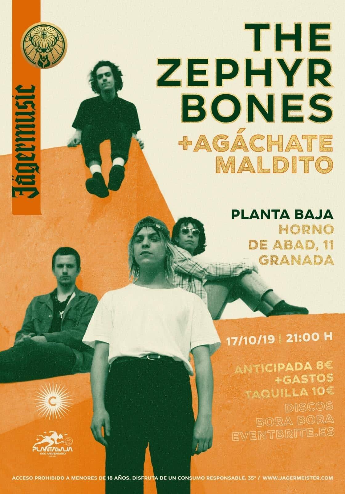 Discos Bora-Bora presenta: THE ZEPHYR BONES + AGÁCHATE MALDITO Planta Baja