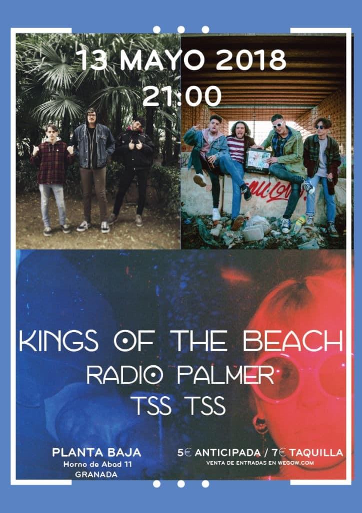 KINGS OF THE BEACH + RADIO PALMER + TSS TSS Planta Baja