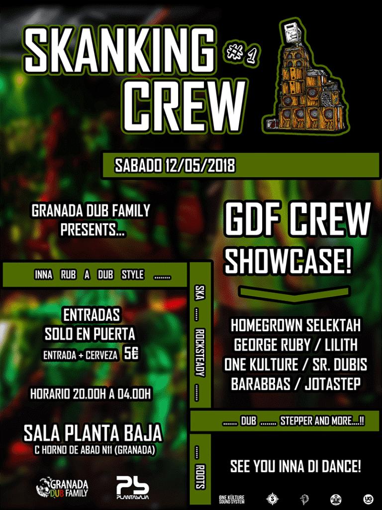 SKANKING CREW VOL.1 (REGGAE, ROOTS, DUB, DIGITAL, STEPPER) Planta Baja