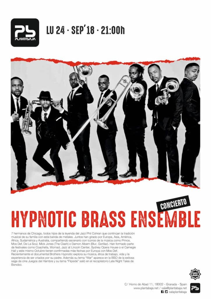 Hypnotic Brass Ensemble Planta Baja