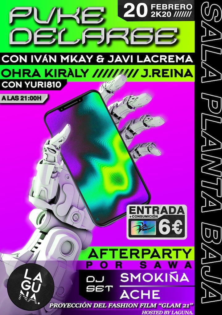 PUKE DELARGE + Afterparty SAWA Planta Baja