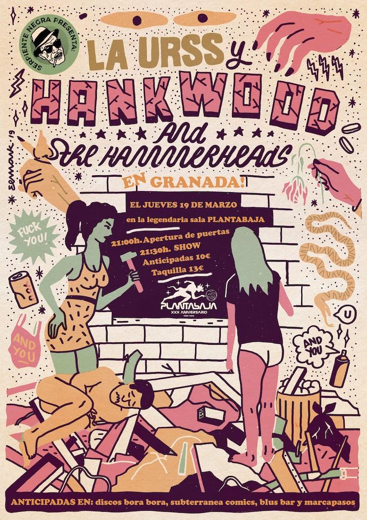 Serpiente Negra Presenta: HANK WOOD + LA URSS Planta Baja