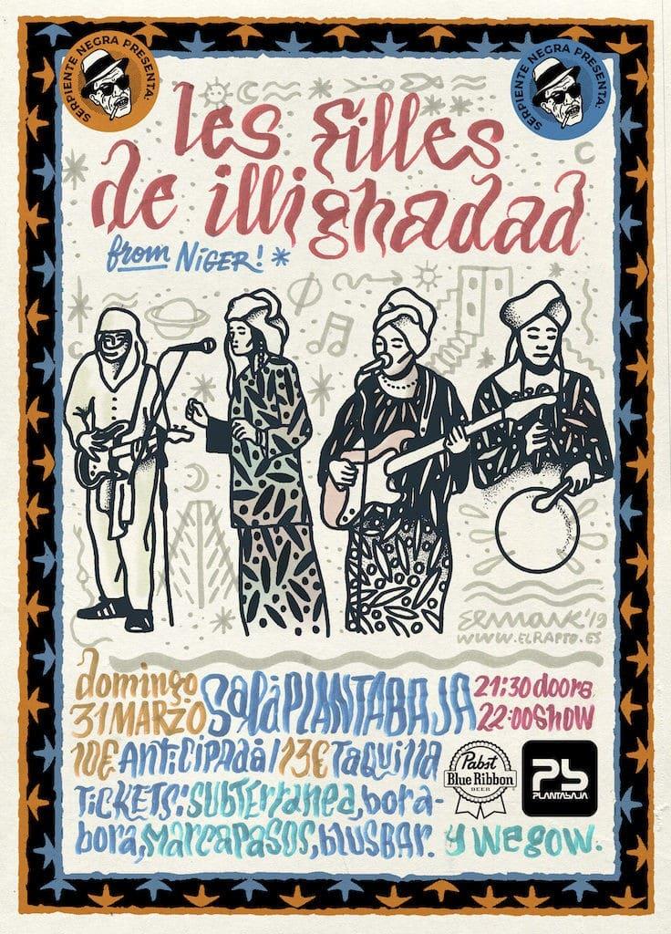 Serpiente Negra presenta: LES FILLES DE ILLIGHADAD Planta Baja