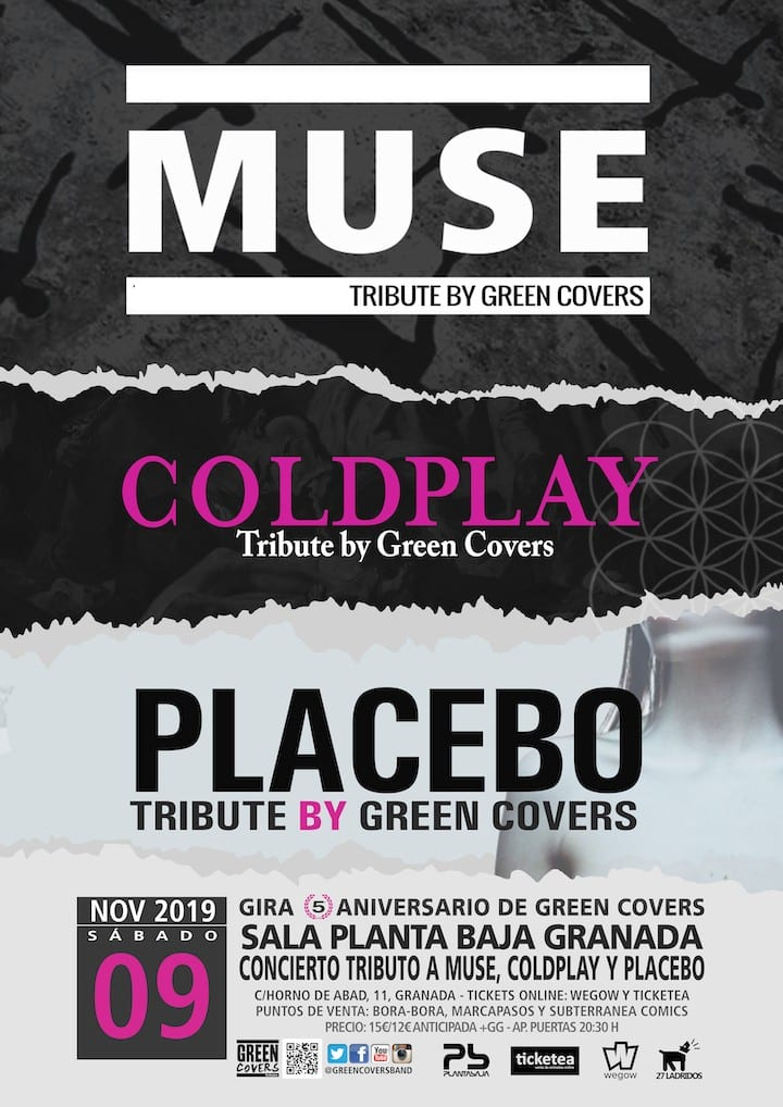 Tributo MUSE + COLDPLAY + PLACEBO: GREEN COVERS Planta Baja