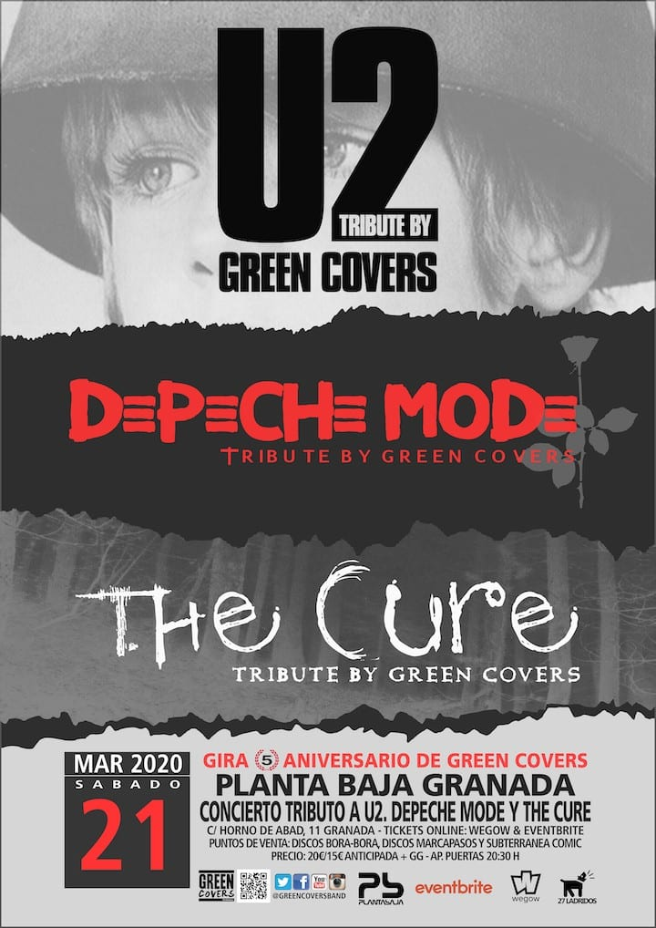 U2 + DEPECHE MODE + THE CURE TRIBUTE BY GREEN COVERS Planta Baja